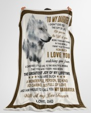 """I LOVE YOU - AMAZING GIFT FOR DAUGHTER Large Fleece Blanket - 60"""" x 80"""" aos-coral-fleece-blanket-60x80-lifestyle-front-10"""