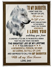"""I LOVE YOU - AMAZING GIFT FOR DAUGHTER Large Fleece Blanket - 60"""" x 80"""" front"""