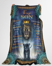 """CONSIDER IT A BIG HUG - BEST GIFT FOR SON Large Fleece Blanket - 60"""" x 80"""" aos-coral-fleece-blanket-60x80-lifestyle-front-10"""