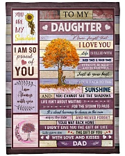 """THE GIFT OF LIFE - BEST GIFT FOR DAUGHTER Large Fleece Blanket - 60"""" x 80"""" front"""