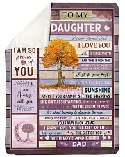 """THE GIFT OF LIFE - BEST GIFT FOR DAUGHTER Large Sherpa Fleece Blanket - 60"""" x 80"""" thumbnail"""