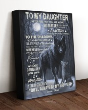 MY BABY GIRL - TO DAUGHTER FROM DAD 11x14 Gallery Wrapped Canvas Prints aos-canvas-pgw-11x14-lifestyle-front-17