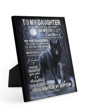 MY BABY GIRL - TO DAUGHTER FROM DAD 8x10 Easel-Back Gallery Wrapped Canvas thumbnail