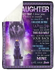"""I BELIEVE IN YOU - SPECIAL GIFT FOR DAUGHTER Large Sherpa Fleece Blanket - 60"""" x 80"""" thumbnail"""
