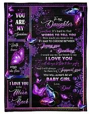 I LOVE YOU - DAD TO DAUGHTER Fleece Blanket tile