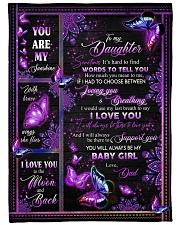 """I LOVE YOU - DAD TO DAUGHTER Large Fleece Blanket - 60"""" x 80"""" front"""