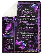 I LOVE YOU - DAD TO DAUGHTER Sherpa Fleece Blanket tile