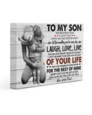 KEEPING TO THE SHADOWS - TO SON FROM DAD 14x11 Gallery Wrapped Canvas Prints front