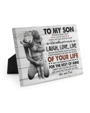 KEEPING TO THE SHADOWS - TO SON FROM DAD Easel-Back Gallery Wrapped Canvas tile