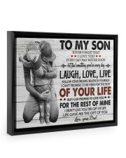 KEEPING TO THE SHADOWS - TO SON FROM DAD Floating Framed Canvas Prints Black tile