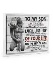 KEEPING TO THE SHADOWS - TO SON FROM DAD Floating Framed Canvas Prints White tile