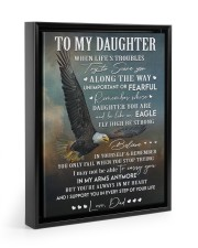 YOU'RE ALWAYS IN MY HEART - GIFT FOR DAUGHTER Floating Framed Canvas Prints Black tile