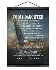 YOU'RE ALWAYS IN MY HEART - GIFT FOR DAUGHTER 12x16 Black Hanging Canvas thumbnail