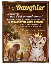 STRAIGHTEN YOUR CROWN - BEST GIFT FOR DAUGHTER Fleece Blanket tile