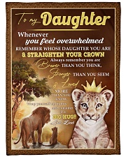 "STRAIGHTEN YOUR CROWN - BEST GIFT FOR DAUGHTER Large Fleece Blanket - 60"" x 80"" front"