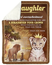 "STRAIGHTEN YOUR CROWN - BEST GIFT FOR DAUGHTER Large Sherpa Fleece Blanket - 60"" x 80"" thumbnail"
