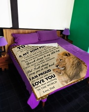 """I MAY NOT CARRY YOU IN MY ARMS ANYMORE Large Fleece Blanket - 60"""" x 80"""" aos-coral-fleece-blanket-60x80-lifestyle-front-01"""