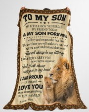 """I MAY NOT CARRY YOU IN MY ARMS ANYMORE Large Fleece Blanket - 60"""" x 80"""" aos-coral-fleece-blanket-60x80-lifestyle-front-10"""