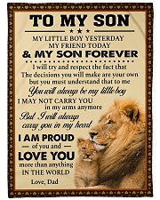 """I MAY NOT CARRY YOU IN MY ARMS ANYMORE Large Fleece Blanket - 60"""" x 80"""" front"""