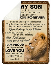"""I MAY NOT CARRY YOU IN MY ARMS ANYMORE Large Sherpa Fleece Blanket - 60"""" x 80"""" thumbnail"""