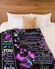 "CONSIDER IT A BIG HUG - BEST GIFT FOR DAUGHTER Large Fleece Blanket - 60"" x 80"" aos-coral-fleece-blanket-60x80-lifestyle-front-02"