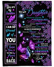 "CONSIDER IT A BIG HUG - BEST GIFT FOR DAUGHTER Small Fleece Blanket - 30"" x 40"" thumbnail"