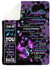 "CONSIDER IT A BIG HUG - BEST GIFT FOR DAUGHTER Large Sherpa Fleece Blanket - 60"" x 80"" thumbnail"