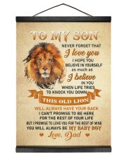 BELIEVE IN YOURSELF - AMAZING GIFT FOR SON 12x16 Black Hanging Canvas thumbnail