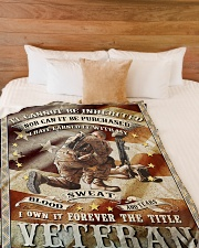 """FOREVER THE TITLE VETERAN - PERFECT GIFT FOR DAD Large Fleece Blanket - 60"""" x 80"""" aos-coral-fleece-blanket-60x80-lifestyle-front-02"""