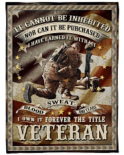 """FOREVER THE TITLE VETERAN - PERFECT GIFT FOR DAD Large Fleece Blanket - 60"""" x 80"""" front"""