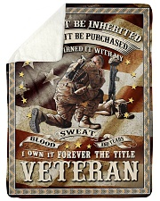 """FOREVER THE TITLE VETERAN - PERFECT GIFT FOR DAD Large Sherpa Fleece Blanket - 60"""" x 80"""" thumbnail"""