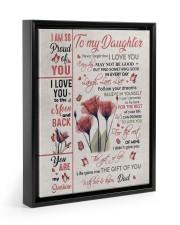 YOU ARE MY SUNSHINE - BEST GIFT FOR DAUGHTER Floating Framed Canvas Prints Black tile