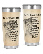 YOU ARE AND STRAIGHTEN YOUR CROWN 20oz Tumbler front