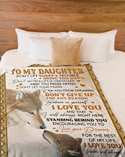 """LIVE YOUR DREAMS - TO DAUGHTER FROM DAD Large Fleece Blanket - 60"""" x 80"""" aos-coral-fleece-blanket-60x80-lifestyle-front-02"""