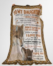 """LIVE YOUR DREAMS - TO DAUGHTER FROM DAD Large Fleece Blanket - 60"""" x 80"""" aos-coral-fleece-blanket-60x80-lifestyle-front-10"""
