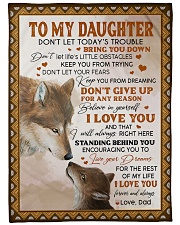 """LIVE YOUR DREAMS - TO DAUGHTER FROM DAD Large Fleece Blanket - 60"""" x 80"""" front"""