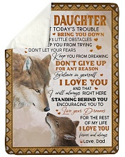 """LIVE YOUR DREAMS - TO DAUGHTER FROM DAD Large Sherpa Fleece Blanket - 60"""" x 80"""" thumbnail"""
