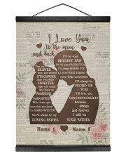 I'LL BE YOUR BIGGEST FAN - BEST GIFT FOR DAUGHTER 12x16 Black Hanging Canvas thumbnail