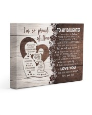 I'M SO PROUD OF YOU - LOVELY GIFT FOR DAUGHTER 14x11 Gallery Wrapped Canvas Prints front
