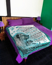 """NEVER FEEL THAT YOU ARE ALONE Large Fleece Blanket - 60"""" x 80"""" aos-coral-fleece-blanket-60x80-lifestyle-front-01"""