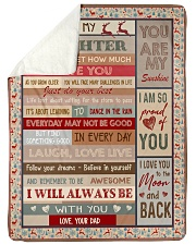 """YOU ARE MY SUNSHINE - BEST GIFT FOR DAUGHTER  Large Sherpa Fleece Blanket - 60"""" x 80"""" thumbnail"""