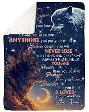 BELIEVE DEEP IN YOUR HEART Sherpa Fleece Blanket tile