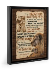 CARRY YOU IN MY HEART - GREAT GIFT FOR DAUGHTER Floating Framed Canvas Prints Black tile
