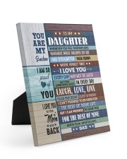 I LOVE YOU - GREAT GIFT FOR DAUGHTER 8x10 Easel-Back Gallery Wrapped Canvas thumbnail