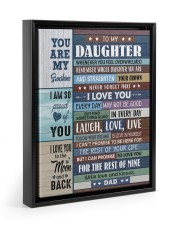 I LOVE YOU - GREAT GIFT FOR DAUGHTER 11x14 Black Floating Framed Canvas Prints thumbnail
