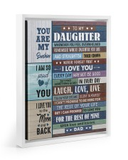 I LOVE YOU - GREAT GIFT FOR DAUGHTER 11x14 White Floating Framed Canvas Prints thumbnail