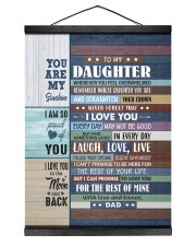 I LOVE YOU - GREAT GIFT FOR DAUGHTER 12x16 Black Hanging Canvas thumbnail