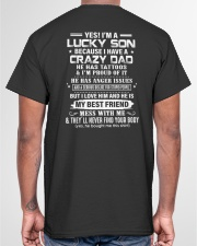 I AM A LUCKY SON - TO SON FROM DAD Classic T-Shirt garment-tshirt-unisex-back-04