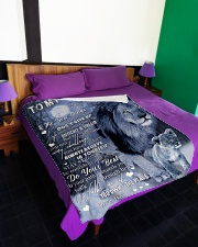 """LIFE MAY SOMETIMES BE DIFFICULT AND UNFAIR Large Fleece Blanket - 60"""" x 80"""" aos-coral-fleece-blanket-60x80-lifestyle-front-01"""