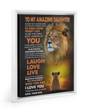 BELIEVE IN YOURSELF - LOVELY GIFT FOR DAUGHTER 11x14 White Floating Framed Canvas Prints thumbnail